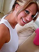 Kelly Young : Perky tit teenie Kelli Young teasing on camera
