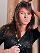 Shyla Jennings : Shyla slowly strips out of her cute little black dress and sheer panties