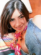 True Tere : Latina teen poses with scarf