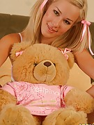 Debbie Teen : Young angel Debbie performs striptease for her fave teddy bear