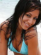 Raven Riley : Romping around on the beach