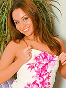 Only Carla : Carla in a stunning pink and white summer dress.