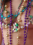 Natalie Sparks : Natalie shows off her big boobs and gets mardi gras beads in return