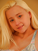 Patty Cake : Cute Blonde Teen Strips Topless