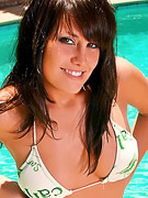 Kissable Kaydin : Kaydins naked poolside showing off her perfect perky tits