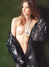 Marilu A takes all of her clothes outdoors and shows us her perfect round boobs.