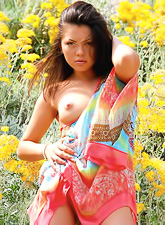 Ulya G takes her hot summer dress off outdoors and shows us her wet vagina.
