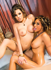 Amy Reid and Renae Cruz have some real fun in the tub between fragrant bubbles.