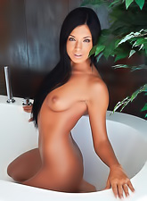Ashley Bulgari takes all of her lingerie in the bath tub and shows her divine body.