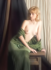 Jane A strips her seductive green dress in front of the camera and shows her hot ass.